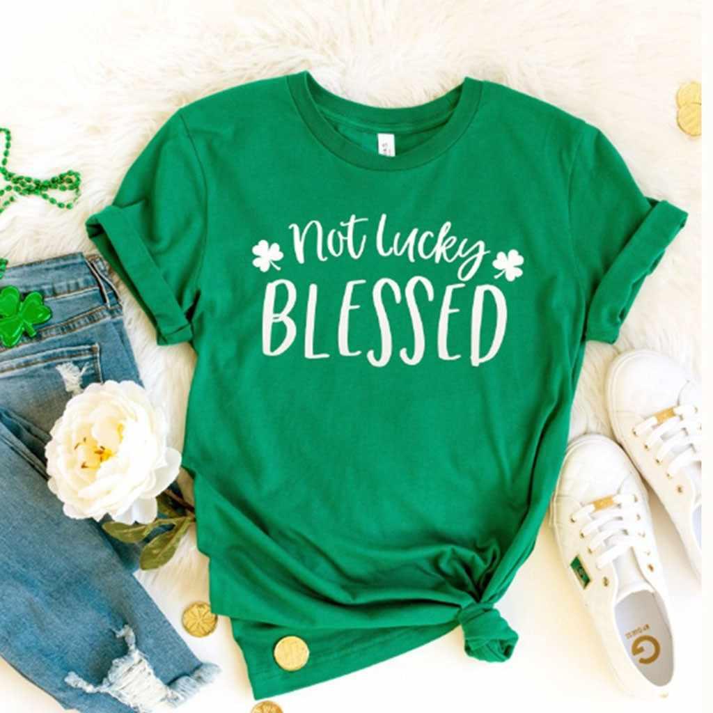 文字のプリント Tシャツプルオーバー O ネック半袖ルーズアイルランドの聖パトリックお祝い Tシャツトップス Women'T-シャツトップ camiseta mujer