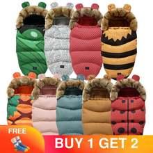 От 0 до 24 м детский спальный мешок коляска зимние ветрозащитные