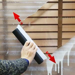 Image 4 - Dayanıklı araba su kazıyıcı yağmur temizleme kürek cam temiz fırça temizleyici silikon silecek T şekli pencere temiz fırça