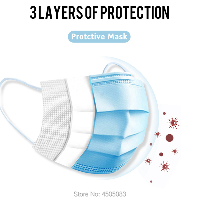 Disposable mouth caps Men Women KN95 mask   Cotton Anti Dust Mouth Mask Windproof Mouth-muffle  Proof Flu Face Masks 2