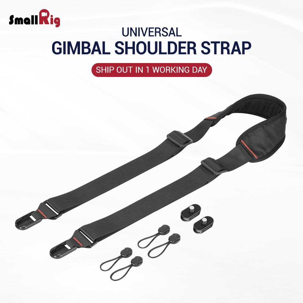 SmallRig DSLR Camera Strap Gimbal Shoulder Strap W/ Rapid Link Connectors Neck Shoulder Black Belt Flexible 2466