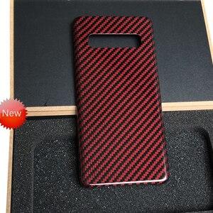 Image 4 - Кевларовый чехол для телефона samsung s10 из настоящего углеродного волокна Galaxy s10 plus из чистого углеродного волокна матовый Легкий Простой деловой персональный