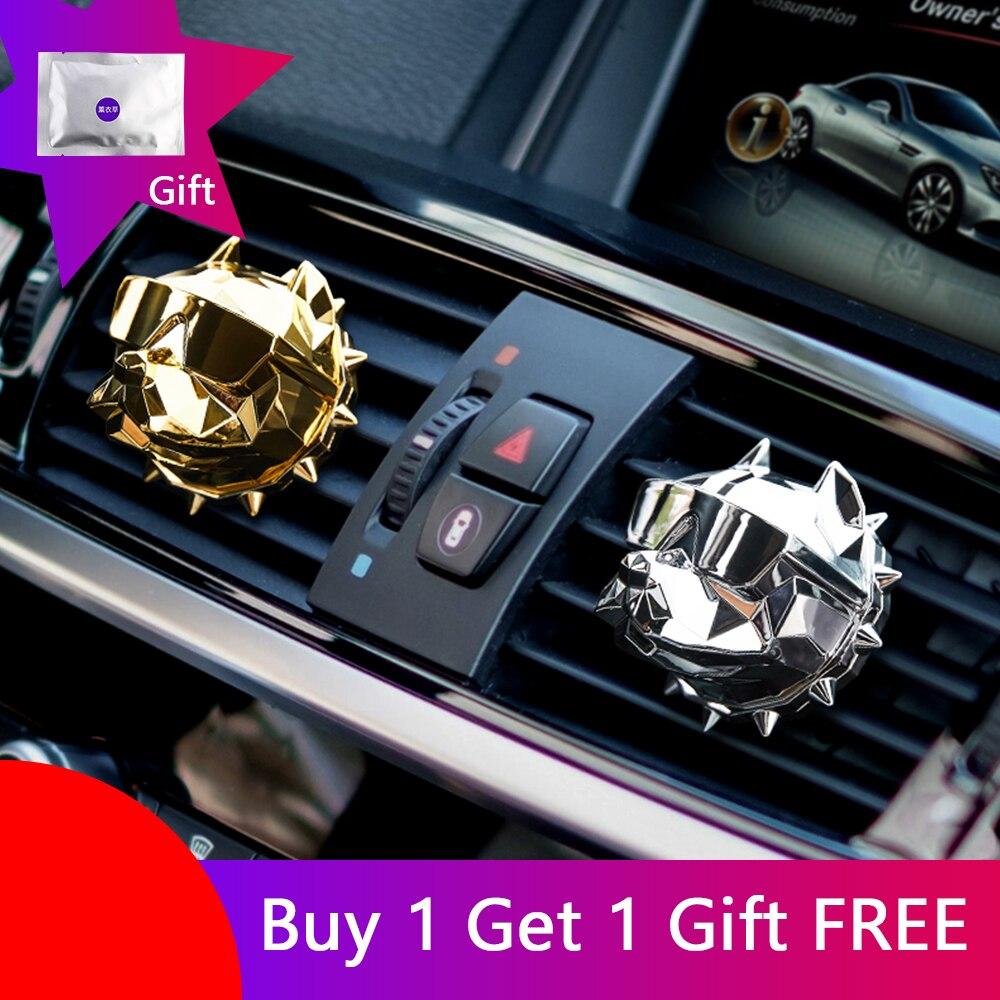 ODOMY Bulldog Car Air Freshener Perfume Clip Fragrance Diffuser Auto Vents Scent Odor Freshener Auto DIY Decor Accessories