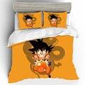Хлопковый комплект постельного белья с объемным рисунком Dragon Ball  роскошный комплект постельного белья королевского размера из льна и льна