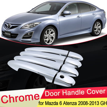 цена на for Mazda 6 Atenza GH1 2008 2009 2010 2011 2012 2013 Luxurious Chrome Door Handle Cover Trim Catch Cap Car Stickers Accessories