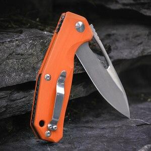Image 4 - Kizer Survival bıçaklar kamp açık bıçak bırak noktası Blade, turuncu G10 kolu V4461N2 Kesmec