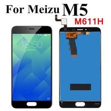 Czarny/biały do wyświetlacza Lcd Meizu M5 z ekranem dotykowym Digitizer kompletny montaż panelu dotykowego do wyświetlacza Meizu M5 M611H