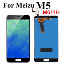 黒/白魅M5 lcdディスプレイタッチスクリーンデジタイザ完全なタッチ用魅M5 M611Hディスプレイ