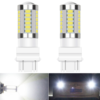 2PCS 3157 LED CANBUS Error Free 3156 1156 BA15S 7443 T20 LED Bulbs Reverse Lights For VW Golf BMW E60 E90 Audi A3 A4 A5 white image