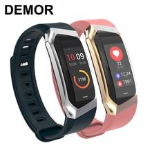 2020 demor kb08 pulseira inteligente banda de atividade fitness pressão arterial monitor de freqüência cardíaca pulseira para android