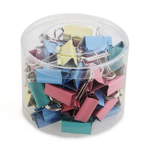40PCS Colorful Metal Binder Clips Paper Clips 19mm Wide Home Office Colorful Books File Paper Organizer Clip Food Clips