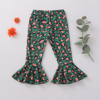 Leopard Printed Wide-Leg Flare Pants for Girls 4