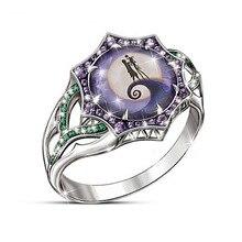 2019 neue Mode Strass Finger Ring Einzigartige Weibliche Lila Stein Ring Halloween Party Ringe Für Frauen