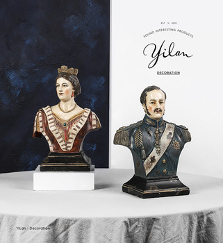 [MGT] Europe originality British royal family king queen Resin modern Home decor Art Decoration decoration craft ornament statue