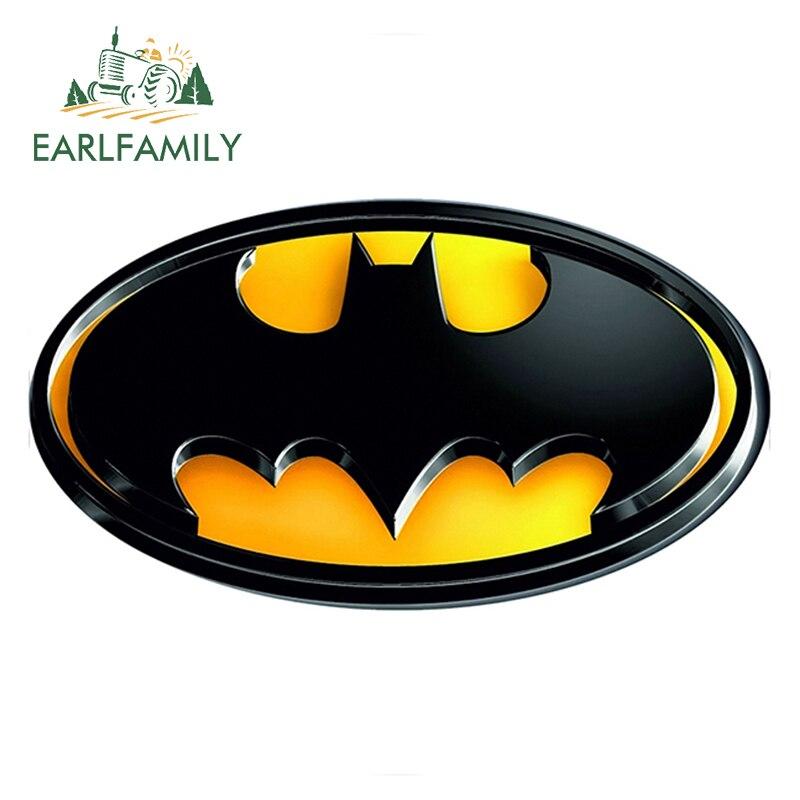 EARLFAMILY 13cm x 13cm Batman Logo Super Hero Funny Car Stickers Car Rear Windshield Bumper Laptop Waterproof Vinyl Decal
