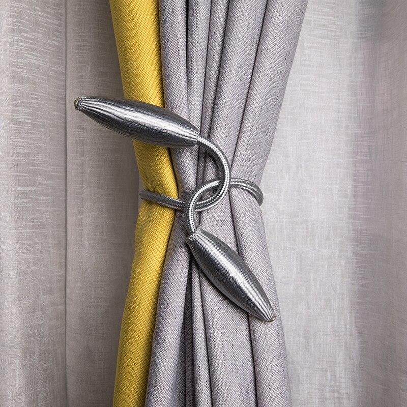 1PCS Metal Twisted Curtain Tieback Tie Backs Clips Buckles Holdbacks Home Hotel