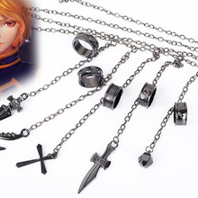 Ring-Accessories Rings Pendant-Chain Costume-Prop Metal Anime Hunter-X-Hunter Kurapika Cosplay