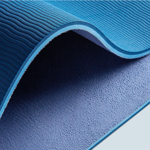 Image 4 - 183*68cm TPE Suded Yoga Mat 6mm Gym Sports Fitness Exercise Pads Body Aligning Yoga Mat With Position Line Non slip Pilates Mat