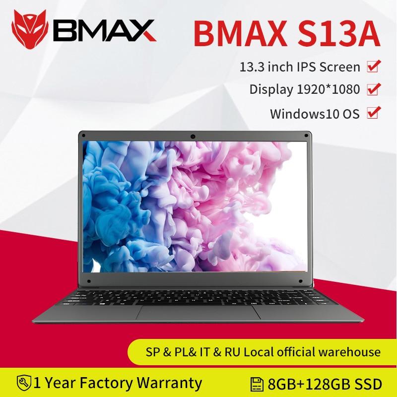 Ноутбук BMAX S13A, 13,3 дюйма, Intel N3350, Windows 10, 8 Гб LPDDR4, 128 Гб SSD, 1920*1080 IPS, Intel