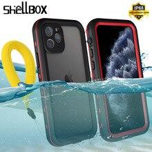 SHELLBOX กันน้ำสำหรับ iPhone 11 Pro Max 360 กันกระแทกว่ายน้ำดำน้ำ Coque สำหรับ iPhone11 ใต้น้ำ
