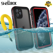 Водонепроницаемый чехол SHELLBOX для iPhone 11 Pro Max, 360 защитный чехол, ударопрочный чехол для плавания и дайвинга, подводный чехол для iPhone11