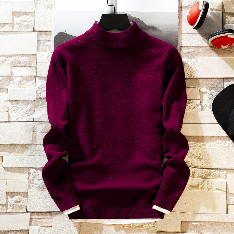 Men's Sweaters Turtleneck Knitted Fashionable Warm Spring No Ever Parallel High-Collar