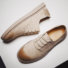 2019 Autumn New men shoes Men Martin Shoes Brogue Casual Genuine Leather Work Business
