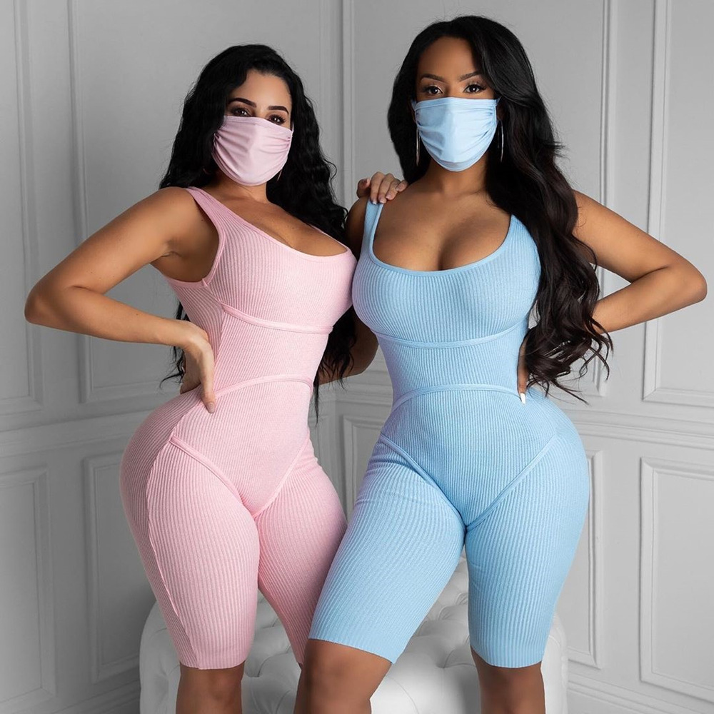 Adogirl Women Jumpsuit With Face Cover