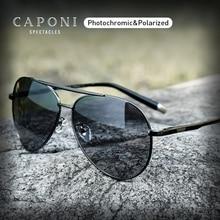 CAPONI Pilot Sunglasses Men Polarized Photochromic Vintage Sun Glasses Classic Alloy Frame Driving Shades For Women UV400 CP3103