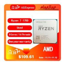 معالج لوحدة المعالجة المركزية AMD Ryzen 7 1700 R7 1700 3.0 GHz ثماني النواة ستة عشر خيط 65 واط مقبس وحدة المعالجة المركزية AM4