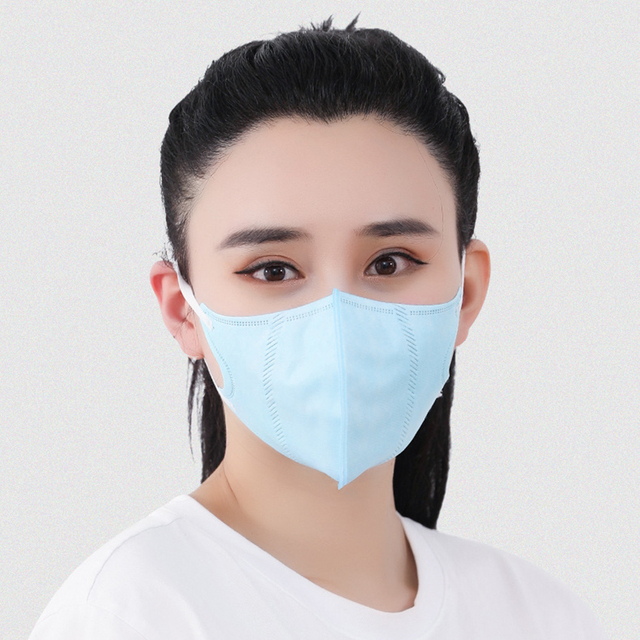 1Pcs Solid Color Non-woven PM2.5 Mouth Mask Anti Dust Mask Fashion Breathable  Windproof Mouth-muffle Bacteria Proof Flu 2