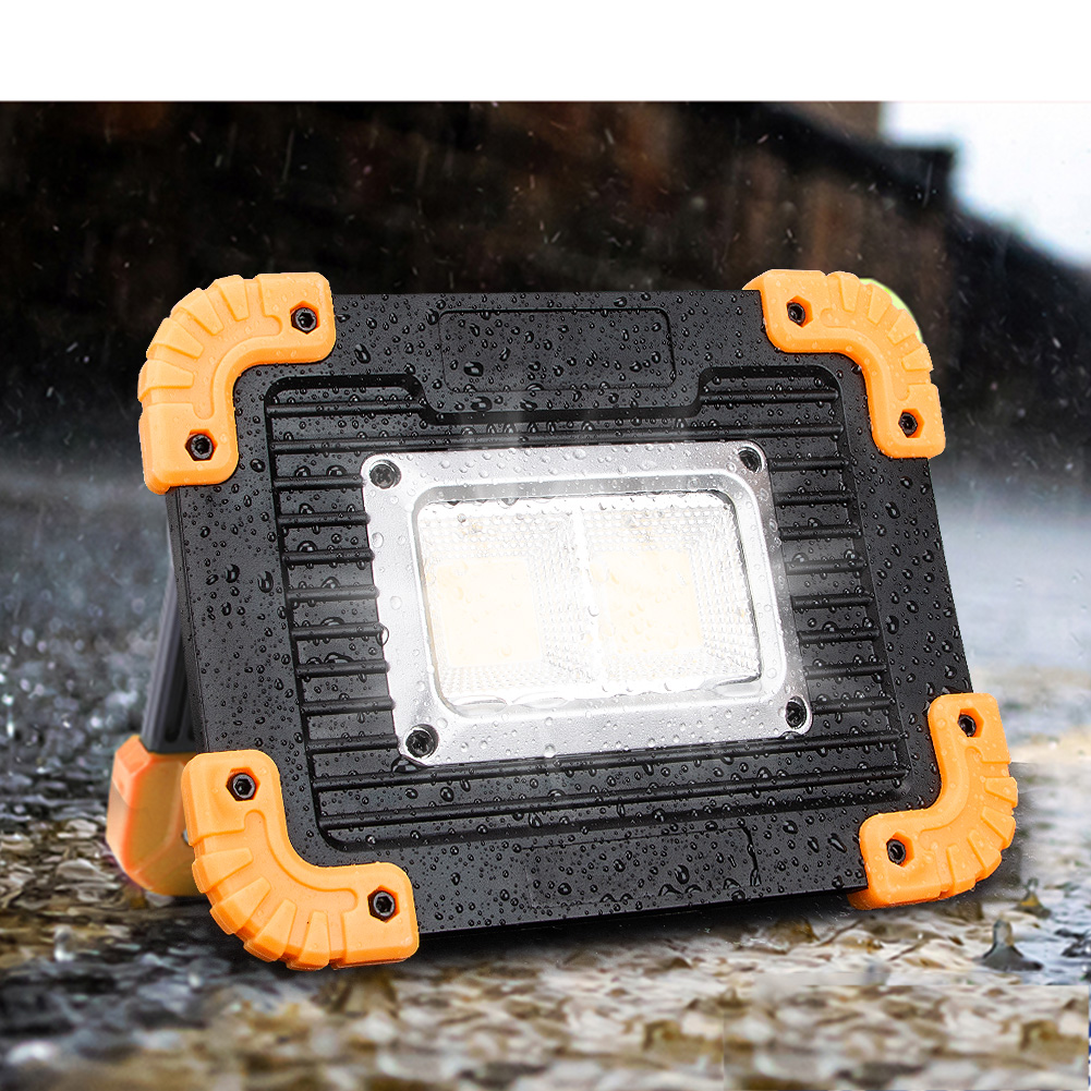 10W Compact Solar COB LED Work Spot Light USB Rechargeable Lamp Camping Hiking