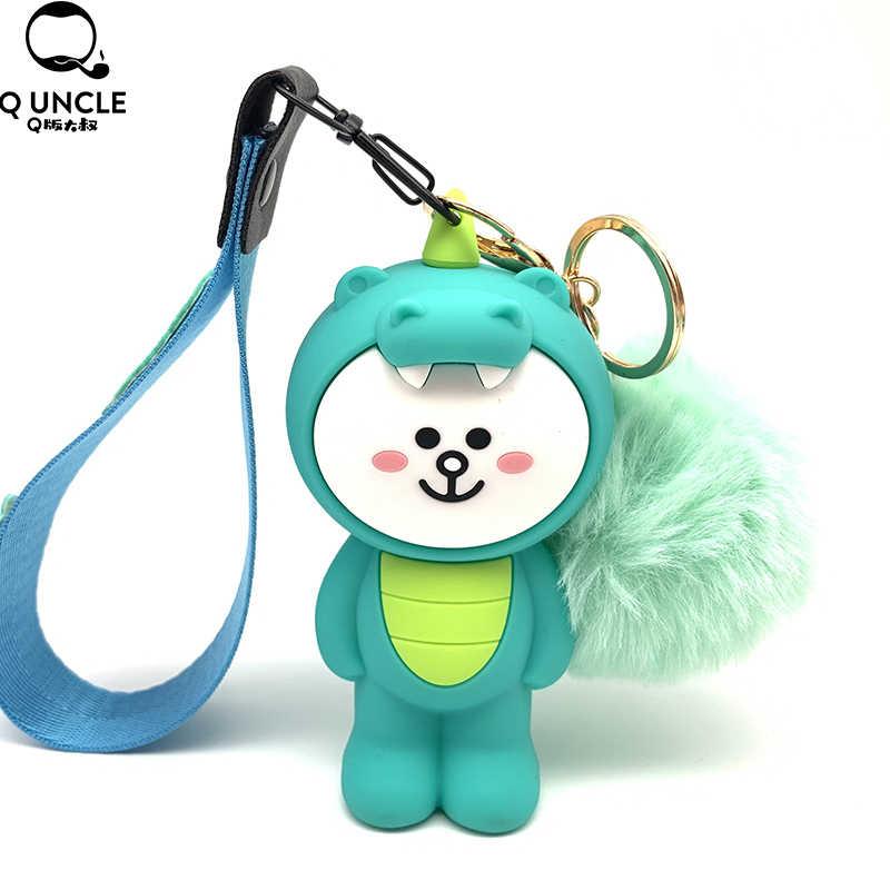 Имитация объемного мультяшного животного, мягкая игрушка, медленно поднимающийся ремешок для телефона, подвеска, шнурок для ключей, сумки, кошелек для монет
