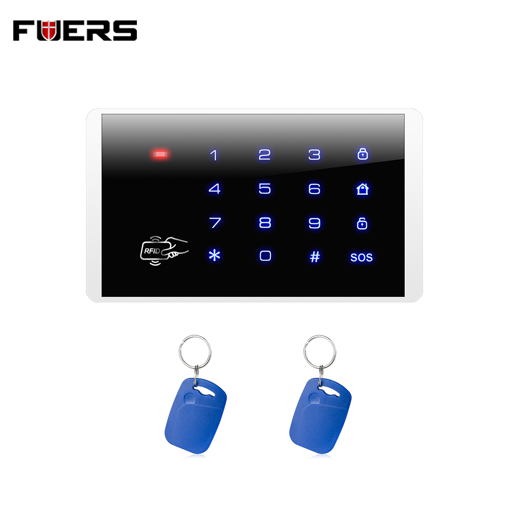 Fuers Wireless Keypad RFID Disarm Alarm System Touch Screen Keyboard For Kerui G18 G19  W1 W2 K7 Home Alarm System