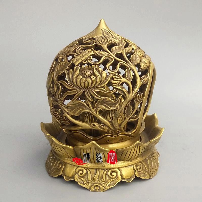 Recueillir l'encensoir en laiton qinglongding ornement décoration de la maison, ameublement de bureau, cendrier sans fret - 2