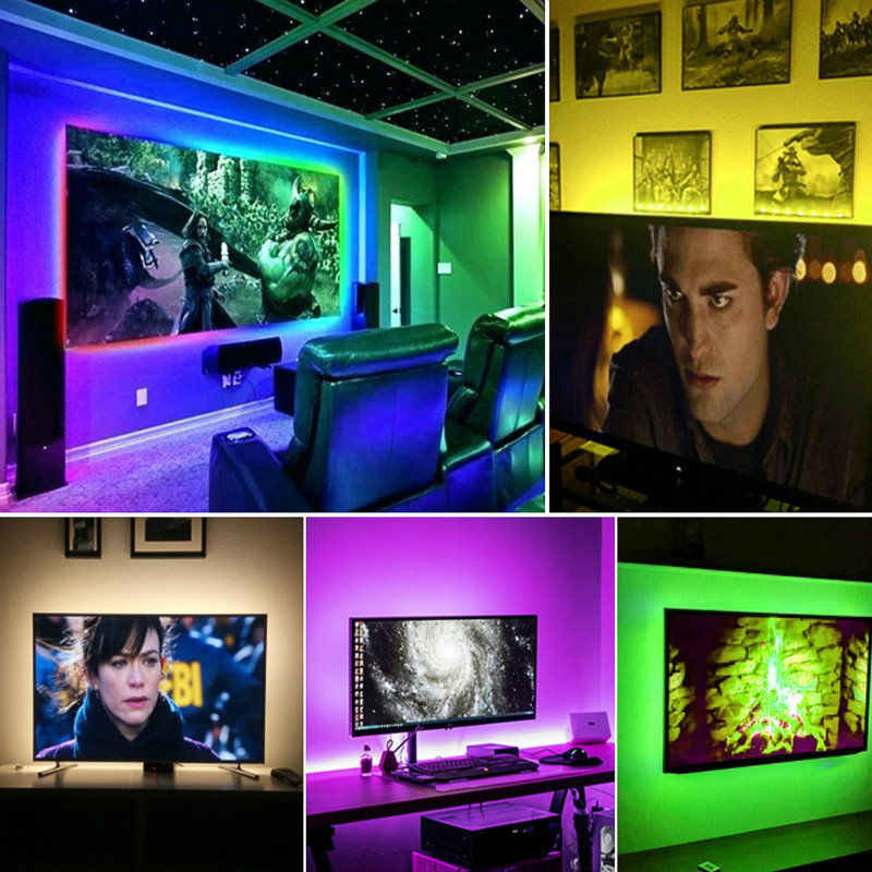 H9a201404bfc94cca8736f97434aa4f09u - 5V USB TV LED Strip Light Lamp Tape 3528 SMD Diode Flexible HDTV TV Desktop Screen Backlight Decor RGB Bias Lighting 0.5M/1M