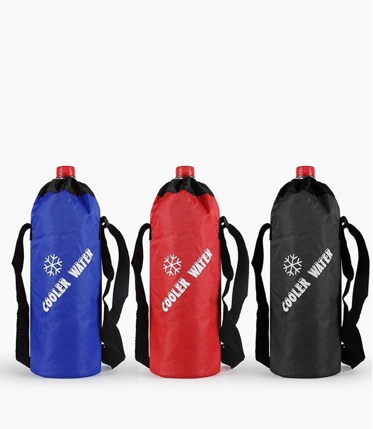 10x29cm Black/Red/Blue Oxford Thermal Bag Drawstring Packaging Handbag Travel Cup Drink Milk Bottle Warmer Insulation Bag