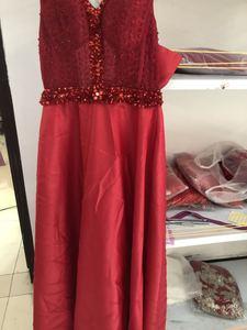 Image 3 - Spacer obok ciebie burgundowe suknie wieczorowe długie 2020 złota satynowa wyszywana kryształkami V neck vestido de fiesta largos de noche elegante