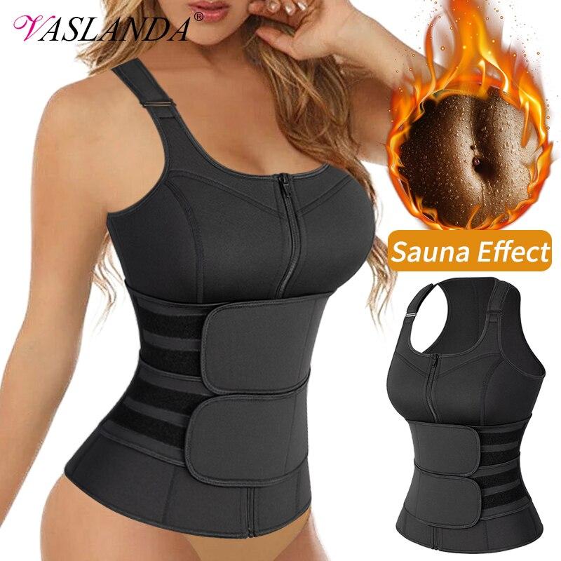 Waist Trainer Vest Overbust Corsets for Women Weight Loss Body Shaper Workout Tank Tops Shapeawear Sauna Sweat Shirt Fat Burner