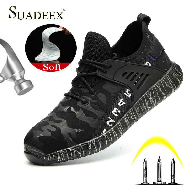 SUADEEX Dropshipping Men Women Work Safety Shoes Puncture Proof Work Construction Indestructible Shoes