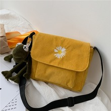 2020 new female bag on the canvas Korean version of simple stripe wild net red girl crossbody