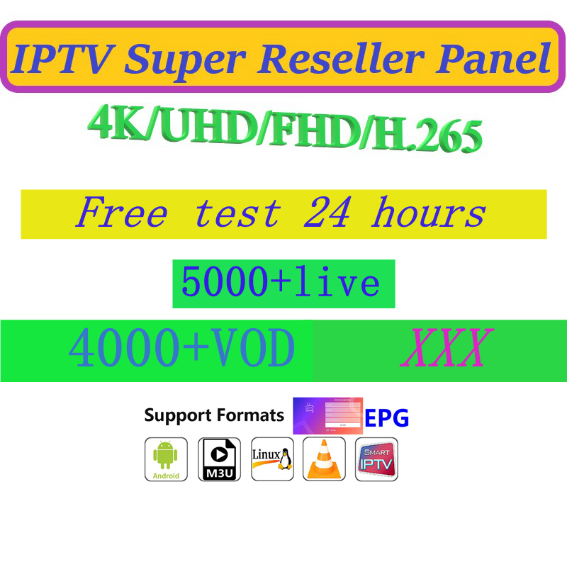 World IPTV 5200 + Channels 4000+vod India Bangladesh Indonesia Philippines Turkey Malaysia Thailand France German Reseller Panel