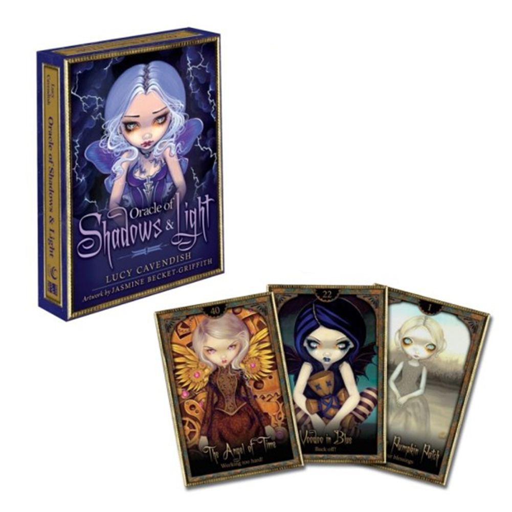 45pcs Tarot Cards Shadow And Light Oracle For Teens Kids Amusing Games Table Deck Board Game Playing Card Entertainment