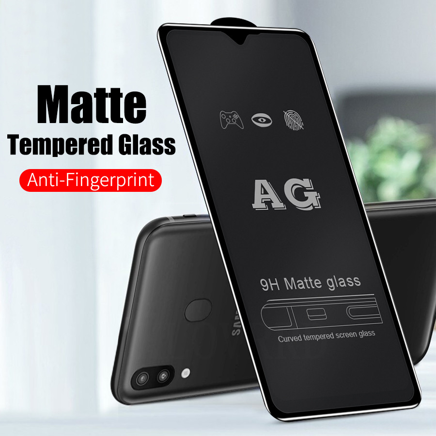 6D Full Glue Coverage Matte Tempered Glass For Samsung Galaxy A50 A40 A70 A20 A30 A60 A80 M30s Screen Protector Glass A9 A7 2018