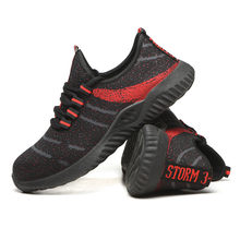 Running Shoes Men Big Size Steel Toe Cap Breathable Walking Shoes Puncture-Proof Work Lightweight Sneakers Safety Work Shoes(China)