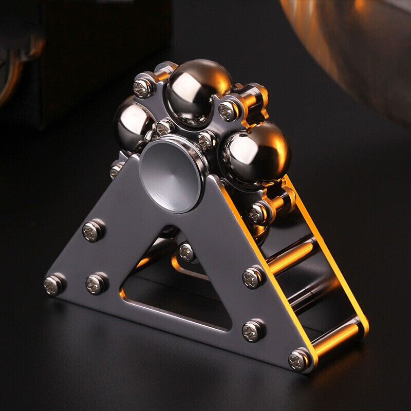 1PC Inception Metal Five Bead Ferris Wheel Fingertip Gyroscope Alloy Steel Ball Bracket Finger Gyro Fidget Spinner