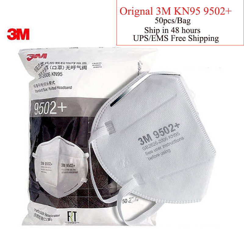 1pcs/Pack 3M Mask  9502+ Mask Anti-dust Masks Standard Mask Haze Riding Protective Masks Anti-particles ZXH0308