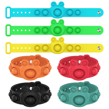 New Fidget Push Bubble Toys For Children Antistress Bracelet Dimple Decompression Toy Adults Stress Reliever Sensory Kids Gift