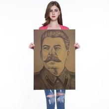 Retro cartel de Stalin Vintage Posters y huellas café cocina sala de pintura decorativa Kraft pegatinas de papel para pared 50x35cm