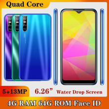 A51 Android Gesicht ID Entsperrt 4G RAM 64G ROM MTK Smartphones Original Handys 13MP Quad Core Wifi celulars 6.26